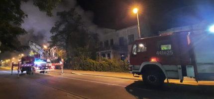 Nocny pożar przy Kościuszki
