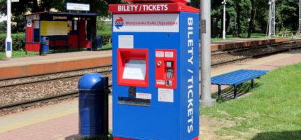 Nowe biletomaty WKD już na peronach