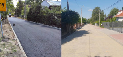 Kochanowskiego niemal gotowa, na Dembowskiej kładą już asfalt