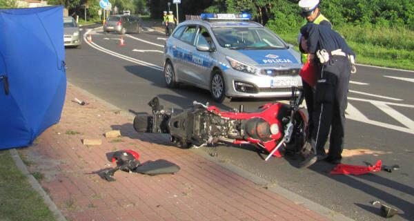 Śmiertelny wypadek w Piotrkowicach. Nie żyje motocyklista