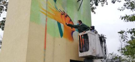 Kolejny mural powstaje w Grodzisku