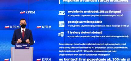 Morawiecki: Tarcza Branżowa dla firm, które ucierpiały na obostrzeniach